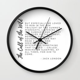 Call of the Wild by Jack London Typography by Christie Olstad Wall Clock