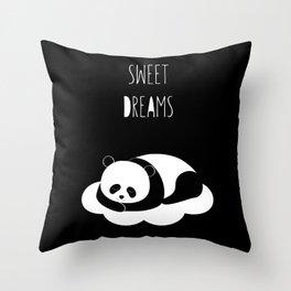 Sweet dreams with panda Throw Pillow