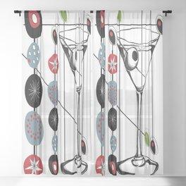 Mid-Century Modern Art Atomic Cocktail 3.0 Sheer Curtain