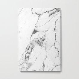 White Marble I Metal Print