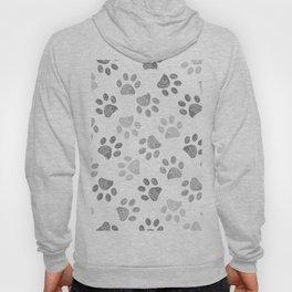 Black and grey paw print pattern Hoody