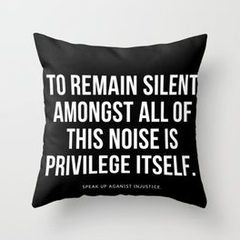 Privilege check Throw Pillow