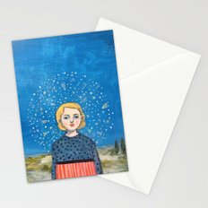 The universe came to her Stationery Cards