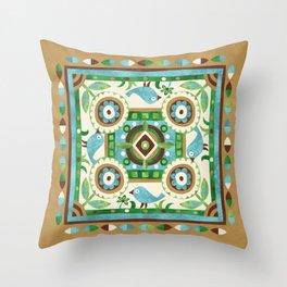 Bluebird Four-Part Harmony Throw Pillow