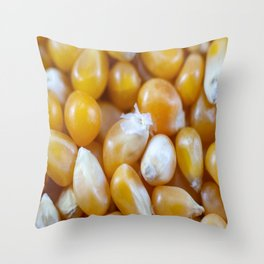 Popcorn Kernels Throw Pillow