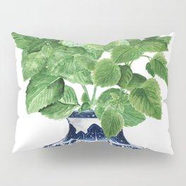 Ginger jar vase, peppermint painting Pillow Sham
