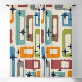 Retro Mid Century Modern Abstract Pattern 224 Blackout Curtain