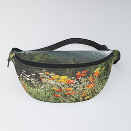 Mountain garden in Switzerland mountains Fanny Pack