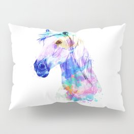 Horse Watercolor, Horse Print, Watercolor Print, Watercolor Animal, Horse Painting, Horse Gift Print Pillow Sham
