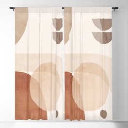 Abstract Minimal Shapes 16 Blackout Curtain