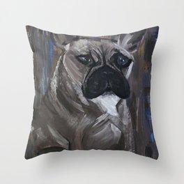 bulldog 1 Throw Pillow