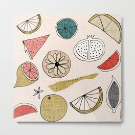 Pop Fruit Pearl Metal Print