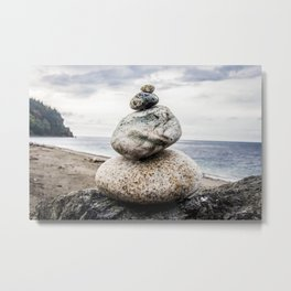 Rock Pile, Fort Worden State Park,  WA Metal Print