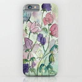 Sweet pea infusion iPhone Case