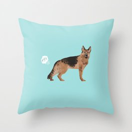 german shepherd funny farting dog breed gifts Throw Pillow
