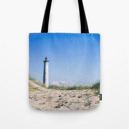 Nantucket Beach Lighthouse Tote Bag