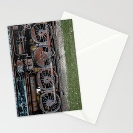 Rusting Drive Wheels of Vintage Steam Train Locomotive Stationery Cards