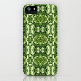 Green and White Hosta Pattern 567 iPhone Case