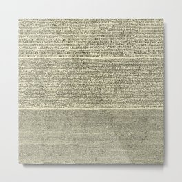 The Rosetta Stone // Parchment Metal Print
