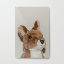 Cute kangaroo plush 0031 Metal Print