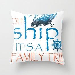 Boat Ship Sailing Skipper Captain Sailor Gift idea Throw Pillow