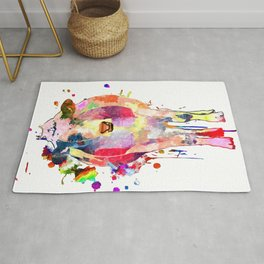 Colored Cow Rug
