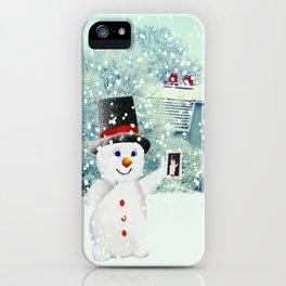 Snowman Selfie iPhone Case