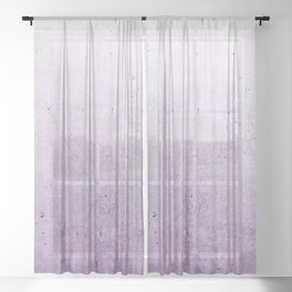 Radiant Orchid Purple Ombre Sheer Curtain