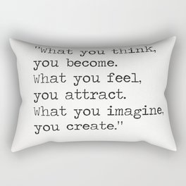 Buddha quote 5 Rectangular Pillow