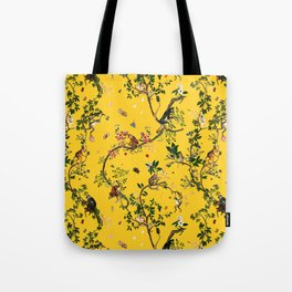 Monkey World Yellow Tote Bag