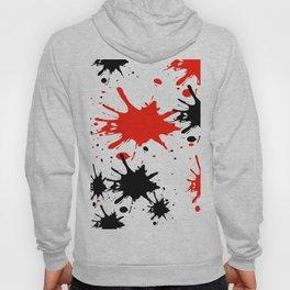 red black splash painting design Hoody