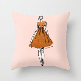 Little Copper Dress Throw Pillow