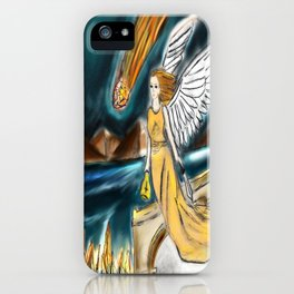 Karmic Angel of Fire iPhone Case