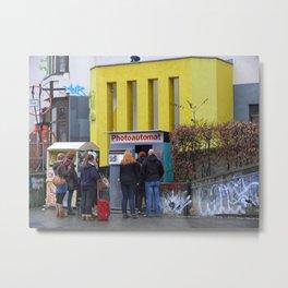 Old photo booth _755 (photo machines) Metal Print