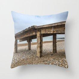 Seaside Pier Throw Pillow