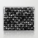 Triangle Watercolor Seamless repeating Pattern - Black and White by iaeznaart