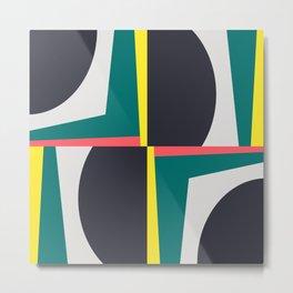 Modern Geometric 65 Green Metal Print