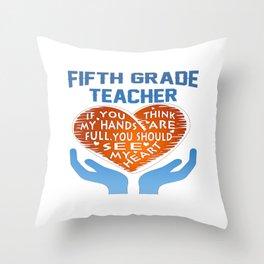 5th Grade Teacher Throw Pillow