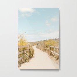 Travel photography Spring pathway I Metal Print