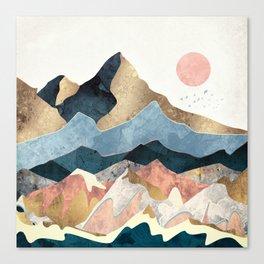 Golden Peaks Canvas Print