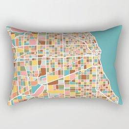 Chicago Map Art Rectangular Pillow
