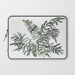 Woodland Fern Botanical Watercolor Illustration Painting Laptop Sleeve