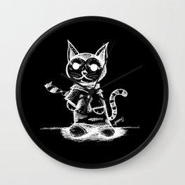 black cat kuroneko ecopop Wall Clock