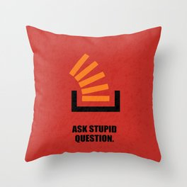 Lab No.4 -Ask Stupid Question Corporate Startup Quotes poster Throw Pillow