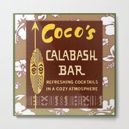 Tiki Art - Coco's Calabash Bar Metal Print