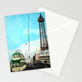 Blackpool Lancashire England Acrylic Fine Art Stationery Cards