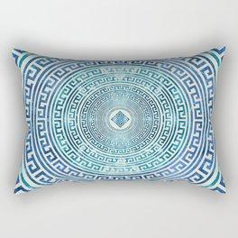 Circular Greek Meander Pattern - Greek Key Ornament Rectangular Pillow