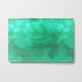 Burst of Color Teal Abstract Sponge Art Blend Texture Metal Print