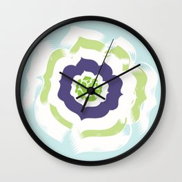 Island Bloom - Blue Wall Clock
