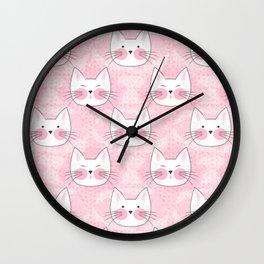 Little Girls Birthday Kitty Cats Wall Clock